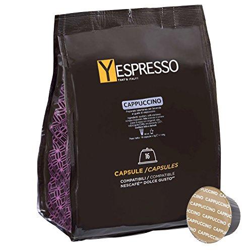 Yespresso Capsule Cappuccino Compatibili per Nescafe Dolce Gusto - Confezione da 32 Pezzi