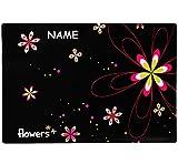 Schreibtischunterlage / Unterlage -  Blumen & Blüten  - incl. Name - 60 cm * 40 cm - Tischunterlage / Knetunterlage / Bastelunterlage - Größe A2 - mit Einsc..