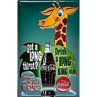 Coca Cola Targa in metallo–King Size Coke–20x 30cm rimpianto segno Retro Segno Metal Tin Sign