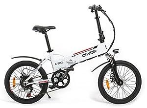 Vélo électrique pliant mod. Traveller Batterie Lithium Ion 36V 10Ah (BLANC)