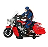 VSHINE Captain America Bike Toy with 3D Lights and Music
