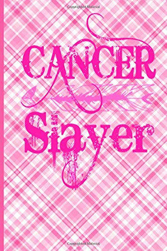 Cancer Slayer: Cancer Gifts For Women Breast Cancer Gifts To Write In For Best Mom to Beat Cancer Plaid Design Boho Arrow & Hot Pink Ribbon Love ... Mum Mom Mommy Mimi Auntie Sister Daughter Hot Pink Plaid Design