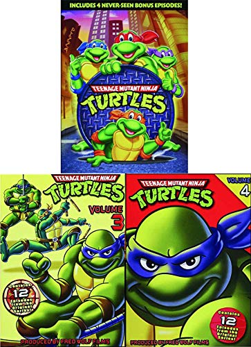 Pack Teenage Mutant Ninja Turtles: Cowabunga! Cartoon TMNT DVD set Original Season 3&4 Leo / Donnatello / Mickey & Ralph original episodes half shell heroes ()