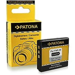 PATONA Batterie comme Fuji NP-50, Kodak Klic-7004, Pentax D-Li68, D-Li122-750mAh