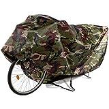 Copribici Copri Bicicletta Copertura Biciclette Antipolveri Antipioggia Telo Protettivo Impermeabile per 2 Biciclette, Verde mimetico
