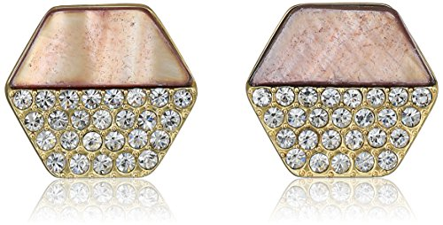 t-tahari-mop-pave-hexagon-disc-button-gold-brown-stud-earrings