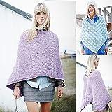Stylecraft Damen Poncho Alpaka Tweed Strickmuster 9452DK