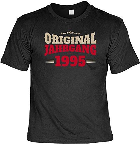 Cooles T-Shirt zum 22. Geburtstag - Original Jahrgang 1995 - Geschenk zum 22. Geburtstag 22 Jahre Geburtstagsgeschenk Schwarz
