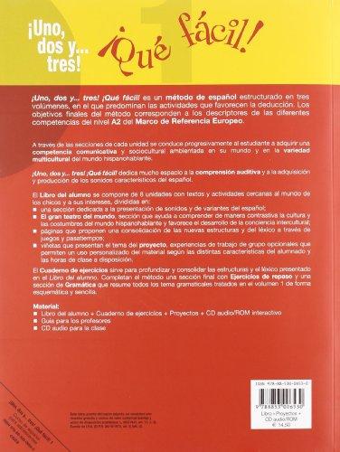 Uno dos y... tres! Que facil! Con portfolio. Con CD Audio. Per la Scuola media: ¡Uno, Dos Y... Tres! Qué Fácil 1. Libro Y Porfol (+CD) (Spagnolo. Corsi)