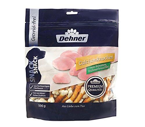 Dehner Premium Hundesnack, Calciumknochen mit Hühnerbrustfilet, 500 g