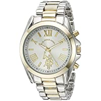 U.S. Polo Assn. Women's Quartz Watch, Analog Display and Gold Plated Strap USC40117