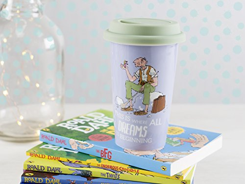 Creative Tops Roald Dahl Fine China Insulated Travel Mug with Silicone Lid 2