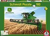 Schmidt Spiele Puzzle 56144 - John Deere, Mähdrescher S690, 100 Teile
