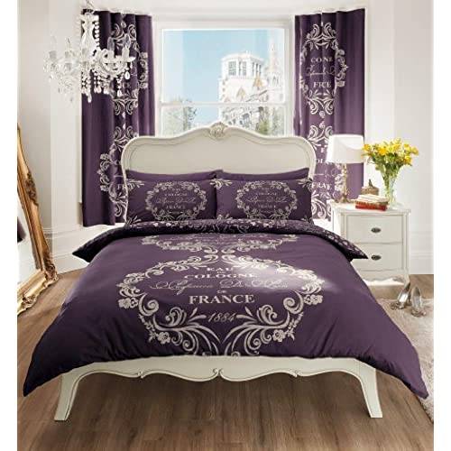 housse couette prune. Black Bedroom Furniture Sets. Home Design Ideas