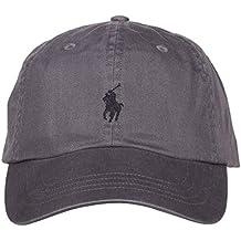 49332b91d4a0 Ralph Lauren Casquette Grise Logo Noir pour Homme