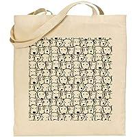 Bolsa algodón perros personalizable tote bag