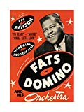 MUSIC CONCERT AD FATS DOMINO ORCHESTRA LEGEND USA FRAMED PRINT F12X4164