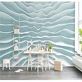 BZDHWWH Benutzerdefinierte Hintergrund Foto Wallpaper 3D-Geometrie Wave Kunst Wandverkleidung Fernseher Sofa Schlafzimmer Wandbilder Modernen Tapeten Home Decor, 170 Cm (H) X 255 Cm (W)