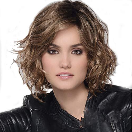 Perücke, Kurze Haare Hitzebeständige Synthetische Flauschige Frisur Tägliche Party-Rollenspiele Perücken ()
