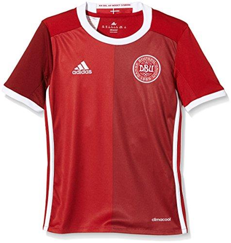 adidas Kinder Dänemark Heimtrikot Replica Kurzarm, Power F05/Craft Red F12, 164 (Frankreich Langarm Fußball-trikot)