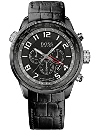 Hugo Boss Herren-Armbanduhr XL Chronograph Quarz Leder 1512740