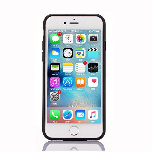 "iPhone 7Plus Hülle, iPhone 7Plus Schwarze Silikontasche, CLTPY Ultra Hybrid 2 in 1 Plating TPU Schutzfall, Dünne Weben Muster Series Stoßfest Case für 5.5"" Apple iPhone 7Plus (Nicht iPhone 7) + 1 x St Dunkelrot"