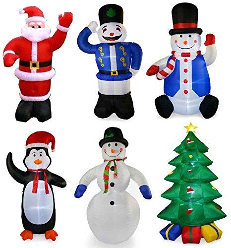 Light Up Outdoor Christmas Decorations.Supgod 8ft Tall Inflatable Light Up Outdoor Christmas