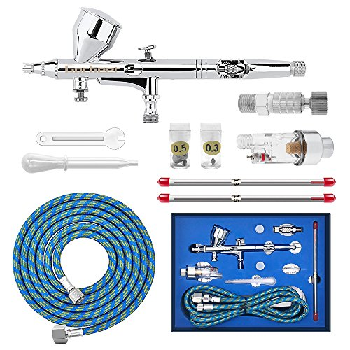 Bright Gocheer Airbrush Universal Replaceable Nozzle And Needle 0.2mm 0.3mm 0.5mm Kit Art Supplies