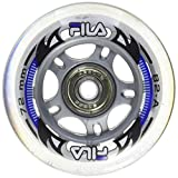 Fila Wheels Spacer Rollen, Weiß, 76 mm