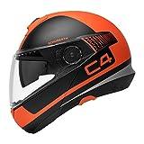 SCHUBERTH C4 Legacy Orange (Orange), S / 55, Klapphelm Motorradhelm, integrierte Sonnenblende, Antibeschlagscheibe, Mikrofon, Lautsprecher und Antenne integriert (SC1 ready), Sicherheitsnorm ECE-R22.05