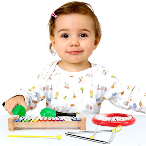 Tulatoo Toddler & Baby Musical Instruments � Fun Toddlers Toys for Parents, Babies and Children � Wooden Xylophone Glockenspiel Toy Percussion Set for Kids of All Ages