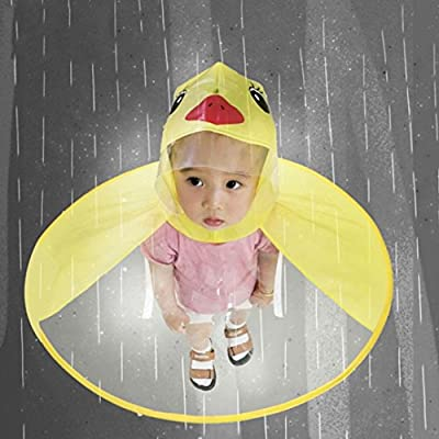 MCYs Children's Raincoat, UFO Little Yellow Duck Raincoat Cute Rain Coat Children Umbrella Hat Magical Hands Free Newest Creative Umbrella Light-Weight & Foldable Raincoat : everything five pounds (or less!)