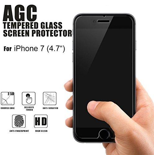 iPhone 8 / iPhone 7 - Original SunCase ® (Backcover) Tasche Schutzhülle Hard Case aus echtem Leder in burned cognac   inkl. Panzerglas Folie 9H Schwarz