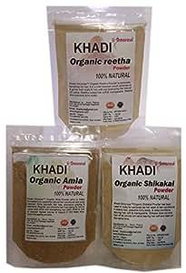 Khadi (Amla, Reetha, shikakai) Hair Care Combo 100 GMS X 3