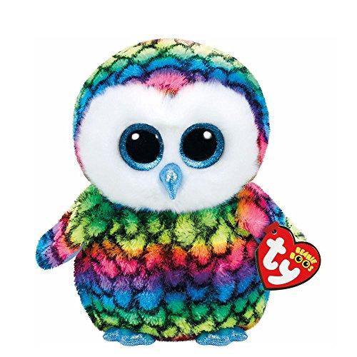 Claire's Girl's Ty Beanie Boos Plush Aria the Rainbow Owl
