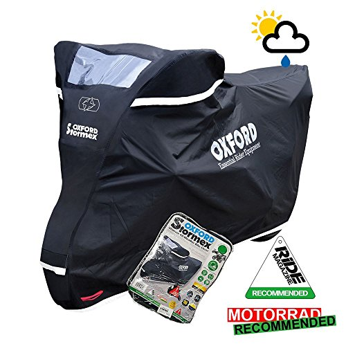 Triumph Bonneville Steve McQueen Oxford Stormex para moto impermeable, Negro