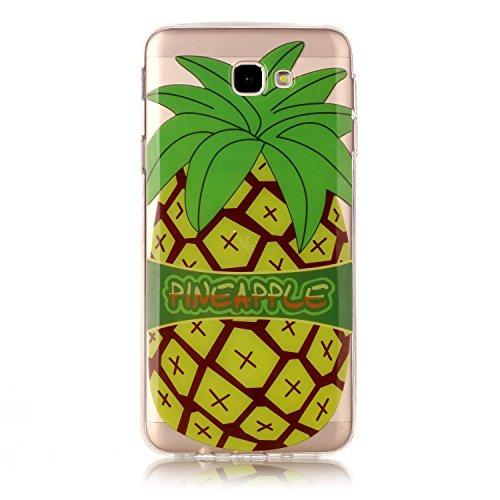 Coque Pour iPhone SE/5/5S,Coffeetreehouse Motif soft coloré de motif imprimé transparent mince TPU Protecteur Case Pour iPhone SE/5/5S(Design Cartoon Licorne) Comic grand ananas