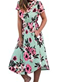 Vintage Floral Prom Dress for Wedding Banquet Dating Short Homecoming Dresses Green XL