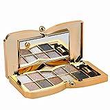 Augenschminke 10 Farben Wasserdicht Glitter Lidschatten Eyeshadow Palette make up