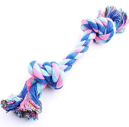 Hosaire 1x Hundespielzeug Seil Kordel aus Baumwolle für Spielen und Kauen-Saite Biss für Hunde,Farbe Zufällige