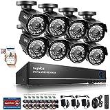 [Mejorado 900TVL HD] SANNCE Kit de 8 Cámaras de Vigilancia (Onvif H.264 CCTV DVR P2P 8CH AHD 960H y 8 Cámaras 900TVL IP66 Impermeable, 4.6MM, IR-Cut, Visión Nocturna Hasta 20-30M, Exterior y Interior, HDMI, 24 LEDs Seguridad Kit) - NO Disco Duro