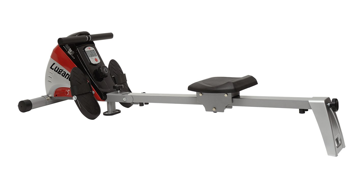 51Bl751kk1L - Christopeit Sport Unisex's Lugano Rower, Silver/red/Black, Medium