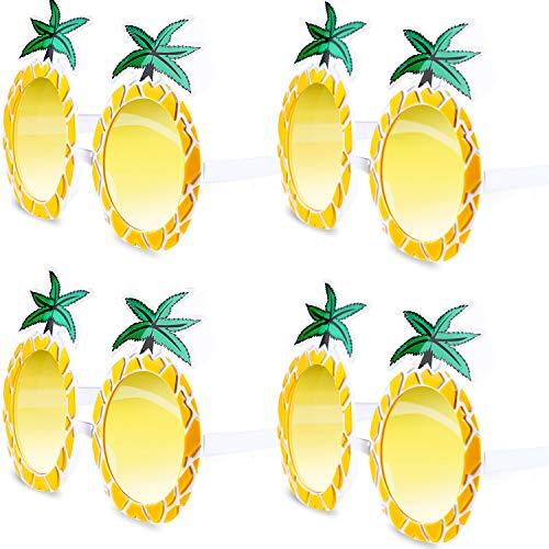 Chinco 4 Paare Ananas Brille Frucht Form Brille Hawaiianische Tropische Ananas Sonnenbrille für Partei Vorräte