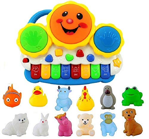 Kids Choice Non-Toxic Musical Drum Keyboard & Chu Chu Set (MultiColour)