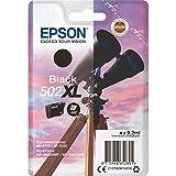 Epson 502XL 9.2ml 550pages Noir cartouche d'encre - Cartouches d'encre (Epson, Noir, WorkForce WF-2860DWF, WF-2865DWF Expression Home XP-5100, XP-5105, Rendement élevé (XL), 9,2 ml, 550 pages)