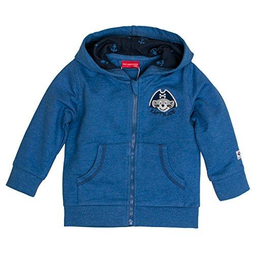 SALT AND PEPPER Baby-Jungen Jacke B Jacket Käpt`n Kapuze Blau (Blue 434), 68 (Blue Pirat Mantel)