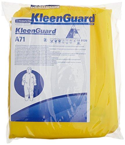 Preisvergleich Produktbild KleenGuard 96800 A71 (Schutzanzug gegen Chemikalien-Sprühnebel Overall mit Kapuze), 10-er Pack