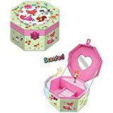 Hot Focus Butterfly Octagon Musical Jewelry Box