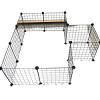 Portable Exercise Puppy Cage Metal Tube Pen Pet Dog Exercise and Training Playpen
