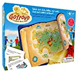 Gotrovo Treasure Hunt Game Indoor Outdoor DIY Educational Activity for Kids Learn Through Fun - 100 Clue Cards, Treasure Map, Treasure Bar, Gold Coins and Loot Bag